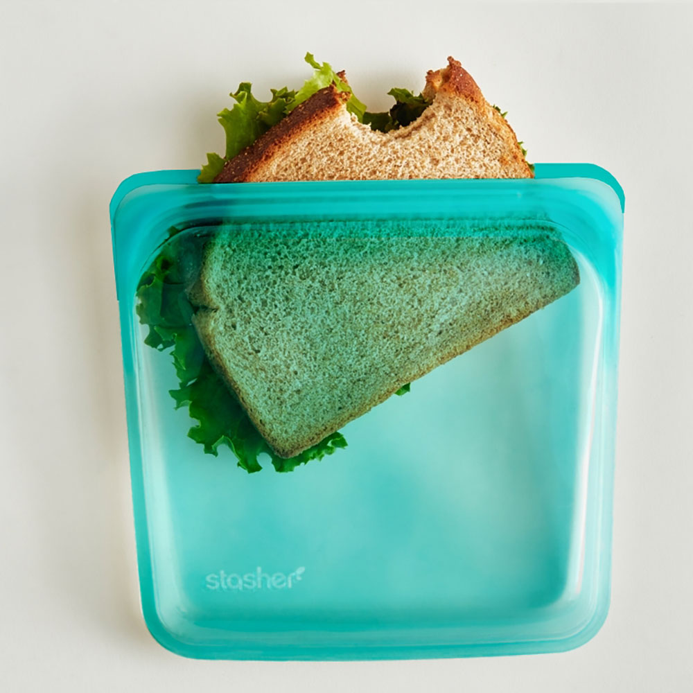: Stasher Sandwich Bag, Aqua