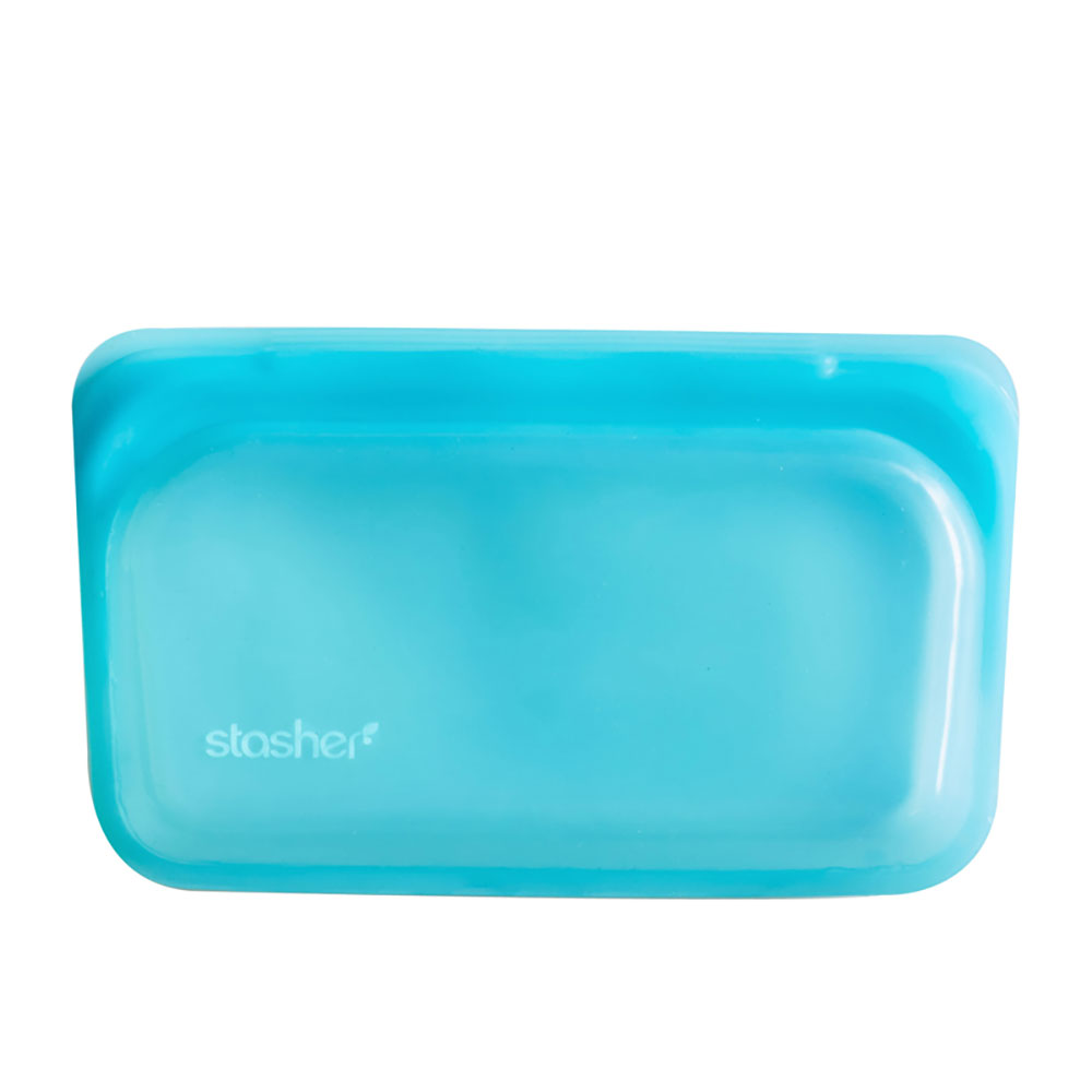 : Stasher Snack Bag, Aqua